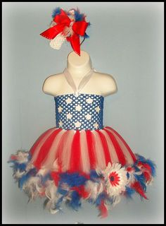 4th of July Tutu Dress / Glitz Patriotic by LilCoutureCutie, $38.00  Love this for miss Hadley's first fourth of july!!