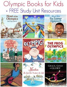 Olympic Books for Kids + FREE Study Unit Resources