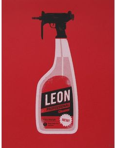 Leon: The Professional (1994) ~ Minimal Movie Poster by Olly Moss #amusementphile