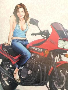 Anime Motorcycle, Motorcycle Posters, Japanese Motorcycle, Cycling Girls, Cycling Art, Lady Biker, Biker Girl, Akira Anime, Bike Poster