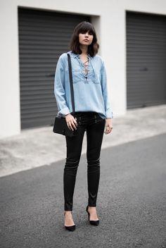 5 Ideas Para Todos Los Días Para Usar Pantalones De Cuero Negro | Cut & Paste – Blog de Moda