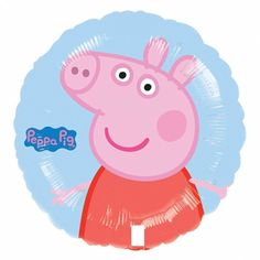"18"" Peppa Pig Pink Blue Kid's Birthday Party Round Foil Balloon https://twitter.com/BandPUSA"