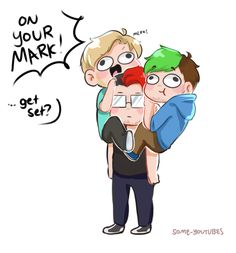 Omg Jack and Felix are just derping around and then you got Mark who's so done with his life.