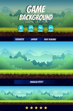 Cartoon Game Background by VitaliyVill Game Background. You can use this background for your game application/project. Background is made with 100 vector. You can edit Game Background Art, Background Drawing, Forest Background, Animation Background, Video Game Rooms, Video Game Art, Powerpoint Game Templates, Video Game Backgrounds, Video Game Sprites