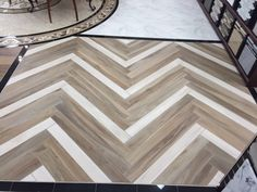 Don't be afraid to mix shades of the same tile...see Savannah Milk and Honey together  #herringbone