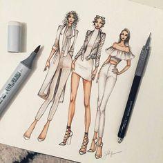 Se dette Instagram-billede af @sketchfashionillustration • 1,134 Synes godt om #fashiondesigndrawings,