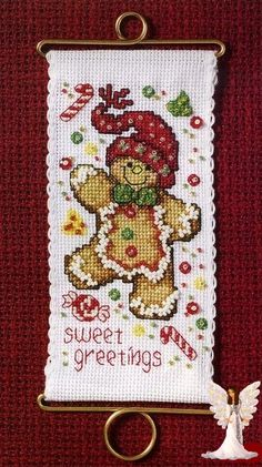 Christmas cross stitch Gingerbread man