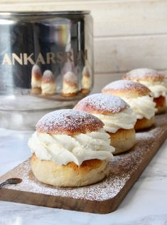 Baking Buns, Fika, Doughnut, Food And Drink, Tasty, Sweets, Snacks, Cooking, Desserts