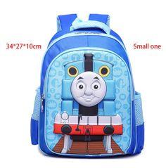 Children bags backpack toddler Train Thomas School Bag for girls boys baby kids orthopedic Blue 3D Cartoon Cute rucksack Mochila