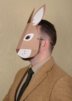 Rabbit mask paper