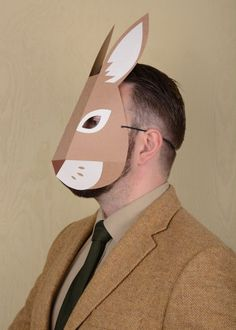 Rabbit mask paper