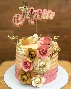 how to make flower decorations for cakes Beautiful Cakes, Amazing Cakes, Balloon Cake, Cake Games, Birthday Cake Decorating, Drip Cakes, Cute Cakes, Creative Cakes, Celebration Cakes