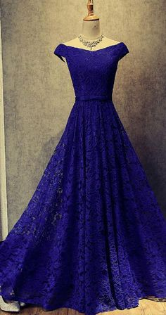 181f5df4a4c Royal Blue Floor Length Off Shoulder Prom Dresses Evening Dresses PG488   eveningdresses  promdresses
