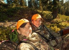 Prois staffer, Nancy Rodriguez, out hunting with her niece for bear! Passing it on!