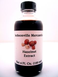 Oregon's prized hazelnut, also known as a Filbert is now available as an extract. We like to use Hazelnut Extract in sugar cookies, puddings, and of course chocolate cake instead of vanilla. This Hazelnut Extract is
