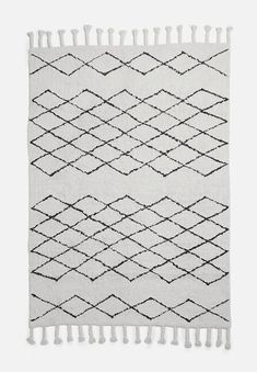 Upgrade your space with some strategically placed rugs. Start with this monochrome one with a black & cream pattern printed on cotton. Rugs And Mats, Best Vacuum, Floor Care, Contemporary Rugs, Rugs Online, Floor Rugs, Decoration, Your Space, Monochrome