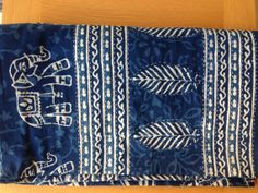 Kantha with elephant print and palm leaf pattern. Too pretty!!!