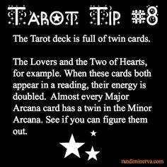 Tarot Tip #8: Twin Cards