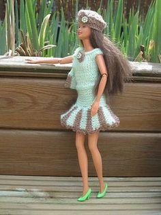 tricot barbie-petit ensemble