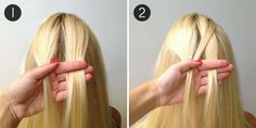 Fishtail Mermaid Braid: Steps 1 & 2