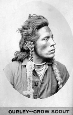 "Curley (Ashishishe, literally means ""The Crow,"" c. 1856-1923) - Crow; one of Custer's Crow scouts, first to report the defeat of Custer's command.  By David F. Barry, 1878"
