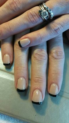 Nude and black French polish....by Denise