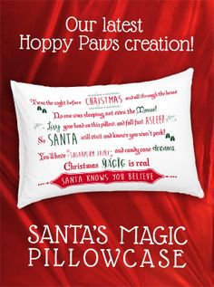 If you're having trouble getting your children to sleep on Christmas Eve, check out our latest product: Santa's Magic Pillowcase.