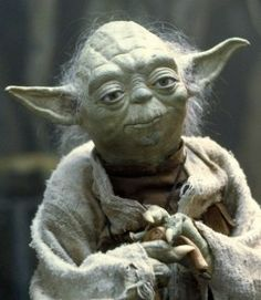 Yoda. The actual Yoda, not CGI Yoda.