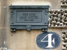 Jane Austen lived here in Bath, 1801-1805