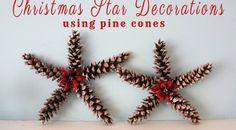 Christmas+Star+Decorations+Using+Pine+Cones
