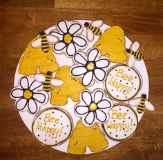 Adorable Honey Bee and beeskep cookies!