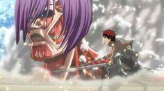 Hahahahah omg this is too much hahahah. Murasakibara x Kagami. Shingeki no Kyojin x Kuroko no Basuke crossover!