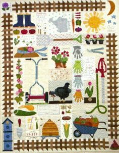 Garden+Quilt=Awesome! From Lori Holt.  I'm madly in love with all of Lori's quilts.