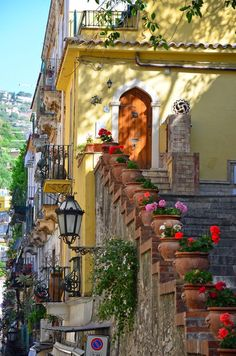 Taormina, a small town on the east coast of the island of Sicily, Italy