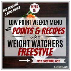 Week 15 Weight Watchers Freestyle Diet Plan Menu Week 4/9/18