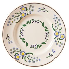 Forget Me Not on a side plate. Have to Luv Nicholas Mosse Pottery. My fav print :) I already have two egg holders in this pattern! Pottery Plates, Ceramic Plates, Ceramic Pottery, Irish Pottery, Susie Watson, Pottery Patterns, Egg Holder, Ceramics Projects, Forget Me Not
