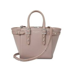 Aspinal of London Mini Marylebone Tote In Soft Taupe Pebble ($1,045) ❤ liked on Polyvore featuring bags, handbags, tote bags, totes, red, lightweight tote, brown tote, mini tote bags, mini tote and red tote bag