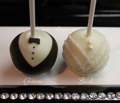 bride groom weddings cake pops