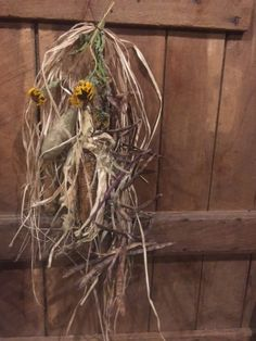 Primitive  Dried Gourd Grubby Corn Dried Beans Garland Fall Harvest Swag Early…