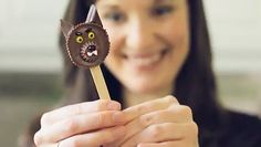 """Nutty Werewolf Pops for Halloween"" -- Click through for a video plus recipe. [NOTE: Paid ads on the site are not necessarily suitable for work or for children.]"