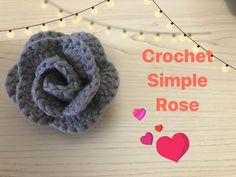 YouTube Simple Rose, Crochet Flowers, Charts, Crochet Dresses, Knitting, Youtube, Crocheted Flowers, Graphics, Tricot
