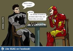 Tony Stark playing chess