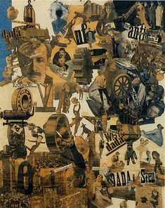 Cut With the Kitchen Knife through the Last Weimar Beer-Belly Cultural Epoch in Germany by Hannah Höch, 1919
