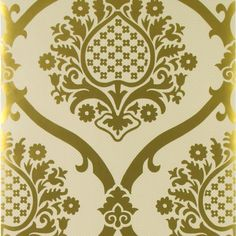 rocaille - gold wallpaper | Designers Guild