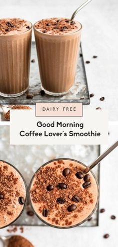 Learn how to make the best coffee smoothie with brewed coffee! This delicious, easy coffee smoothie recipe has a hint of chocolate flavor from cacao powder, a boost of protein from collagen peptides and peanut butter, and makes a great morning pick-me-up or post-workout breakfast. #coffeesmoothie #smoothie #coffee #healthybreakfast #dairyfree Coffee Smoothie Recipes, Breakfast Smoothies, Easy Coffee, Good Morning Coffee, Best Green Smoothie, Juice Smoothie, How To Make Smoothies, Healthy Smoothies, Almond Milk Coffee