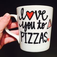 A personal favorite from my Etsy shop https://www.etsy.com/listing/204891454/love-you-to-pizzas-pizza-love-mug