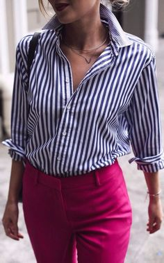 stripes+++high+waist+perfection:+office+outfit