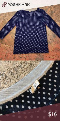 J Crew sweater Cute for spring! Polka dot, Merino wool, 3/4 sleeves. Size small J. Crew Sweaters Crew & Scoop Necks