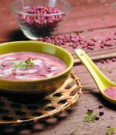 Velouté d'azukis, crème au gingembre - Recettes de cuisine bio à réaliser à base de produits bio
