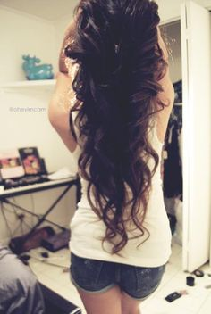 long & curly hairstyle